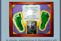 Fathers Day Card Template Unique Diy Fathers Day Gift Idea Framed Poem Footprints