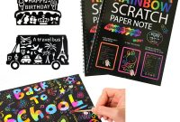 Fathers Day Card Template Unique Humars Scratch Art Activity Books for Kids 20 Big 10 X 7 25 Sheet Rainbow Scratch Paper Set with Stylus Scratchers Stencils Diy Painting Doodle