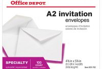 First Birthday Invitation Card Template New Office Depot Brand Invitation Envelopes A2 4 38 X 5 34 White