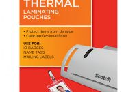Florida Id Card Template Awesome Scotch thermal Laminating Pouches Id Badgetag Size 100