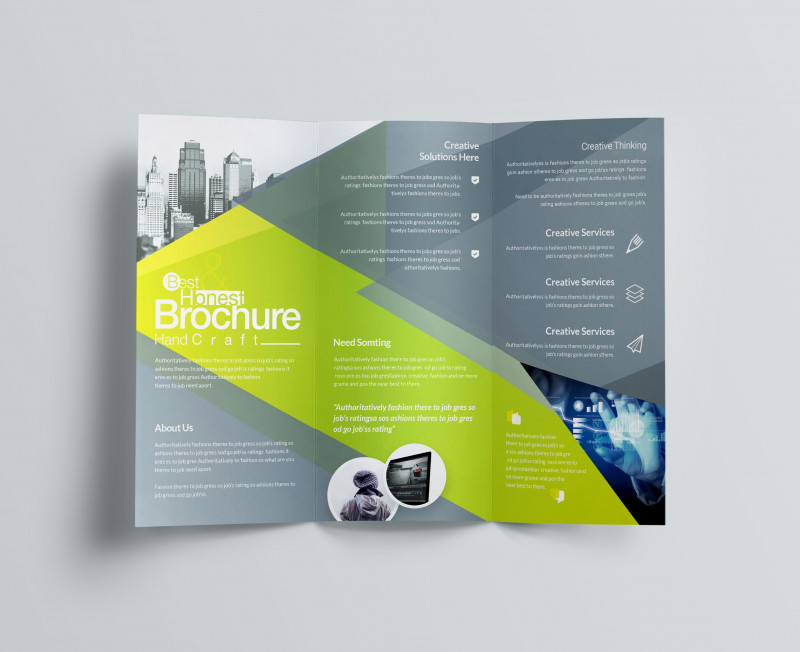 Fold Over Business Card Template New Excellent Professional Corporate Tri Fold Brochure Template