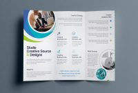 Fold Over Business Card Template New Hypnosis Professional Tri Fold Brochure Template In 2020