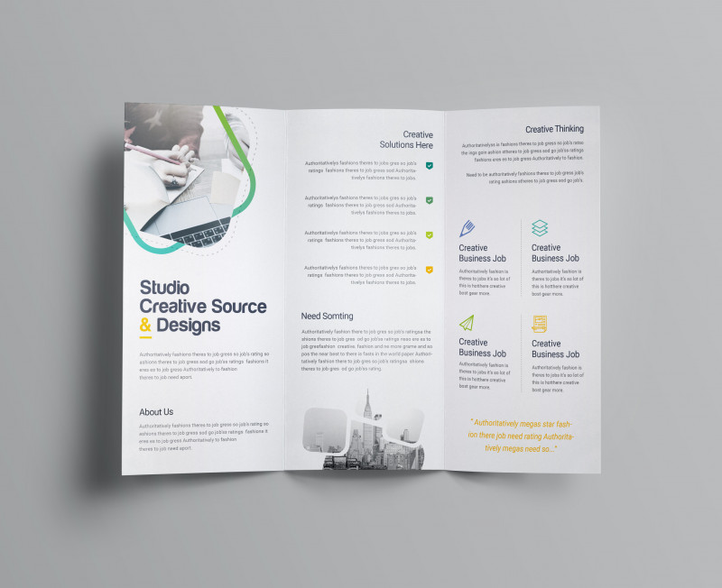 Fold Over Business Card Template New Logic Professional Corporate Tri Fold Brochure Template