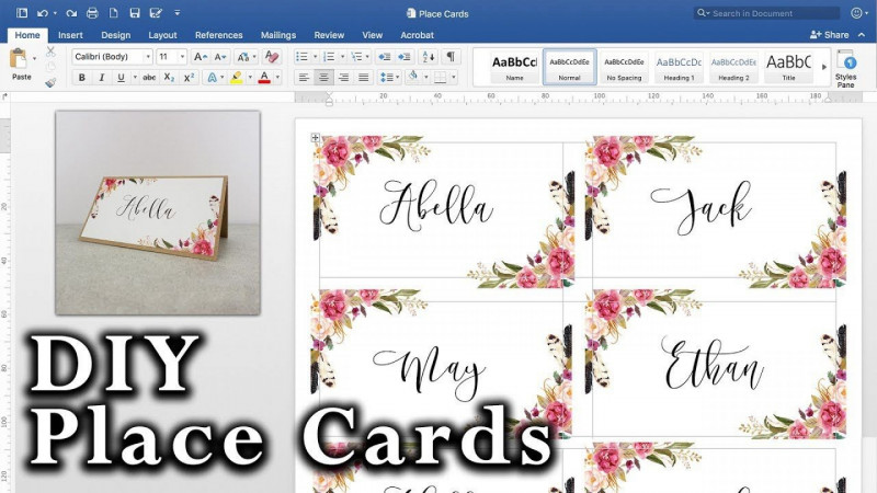 Fold Over Place Card Template Awesome Microsoft Word Place Card Template Addictionary