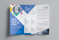Fold Over Place Card Template New Neptune Professional Corporate Tri Fold Brochure Template