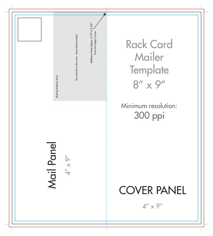 Fold Over Place Card Template Unique The Interesting 8 X 9 Rack Brochure Template Half Fold