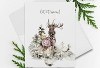 Foldable Birthday Card Template New Holiday Greeting Card Set A Westcoast Winter Style 13993