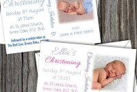 Free Christening Invitation Cards Templates New Pack Of 10 Sbd50 Free Uk Delivery Personalised Boy Girl
