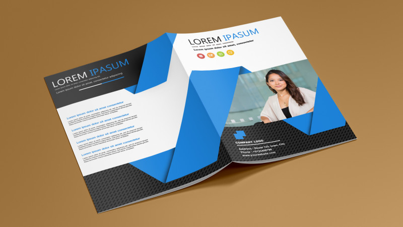 Free Complimentary Card Templates Awesome Free Bi Fold Brochure Template