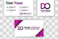 Free Editable Printable Business Card Templates Unique Clean Business Card Template Concept Vector Purple Modern