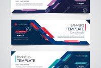 Free Place Card Templates Download Awesome Abstract Horizontal Business Banner Geometric Shapes Design