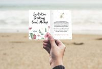 Free Printable Blank Greeting Card Templates Awesome Free Invitation Greeting Card In Hand Mockup Psd