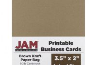 Free Printable Flash Cards Template New Jam Paper Printable Business Cards 3 12 X 2 Brown Kraft 10