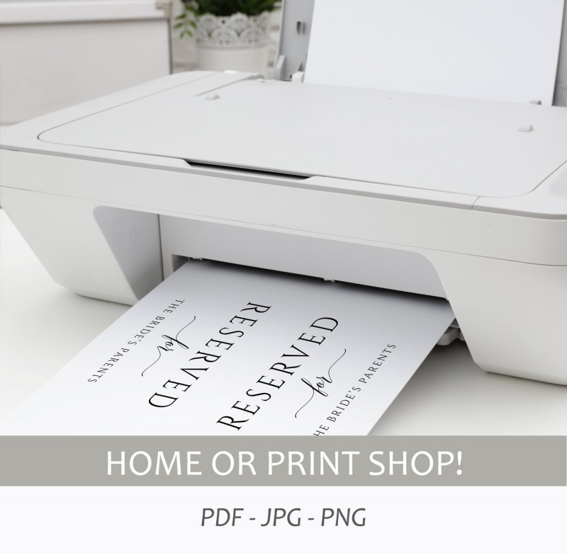Free Printable Tent Card Template New Printable Reserved Sign Tent Romantic Calligraphy Large