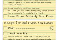 Free Printable Thank You Card Template Unique How to Write the Most thoughtful Kid Thank You Notes