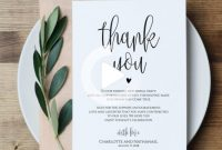 Free Printable Thank You Card Template Unique Pin On Wedding Ideas