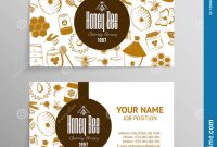 Free Templates for Cards Print Awesome Honey and Beekeeping Business Cards Stock Vector