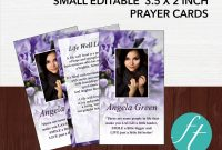 Funeral Invitation Card Template Awesome Purple Bouquet Funeral Prayer Card Funeral Templates