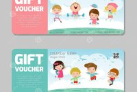 Gift Card Template Illustrator New Gift Voucher Template and Modern Pattern Kids Concept