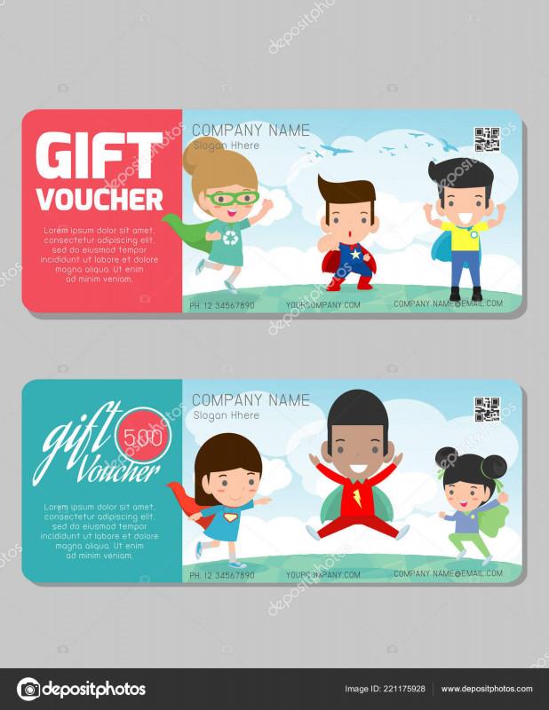 Gift Card Template Illustrator Unique Gift Voucher Template Modern Pattern Child Concept Voucher