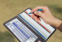 Golf Score Cards Template New Onlvan Golf Scorecard Holder Leather Yardage Book Cover with Pen Pocket Fit Most Back Pocket Black