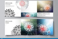 Greeting Card Layout Templates Awesome Vector Layout Of Square Covers Templates for Trifold