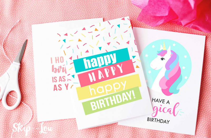 Greeting Card Layout Templates Unique 10 Free Printable Birthday Cards For Everyone