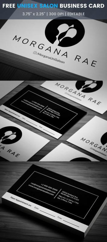 Hairdresser Business Card Templates Free Unique Free Hair Salon Business Card Cool Business Cards Salon