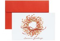 Half Fold Greeting Card Template Word Unique Great Papers Print Your Own Greeting Cards 8 1 2 X 5 1 2 Seasons Greetings Wreath Pack Of 18 Item 119268
