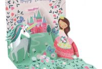 Happy Birthday Pop Up Card Free Template Awesome Up with Paper Everyday Pop Up Greeting Card 5 1 4 X 5 1 4 Princess and Unicorn Item 7859829