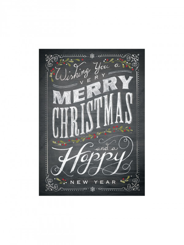 Happy Holidays Card Template Awesome Personalized Holiday Card With Envelope Sample 7 7 8 X 5 5 8 Chalkboard Merry Christmas Item 721277