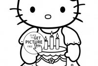 Hello Kitty Birthday Card Template Free Awesome Printable Coloring Pages for A Birthday Coloring Home