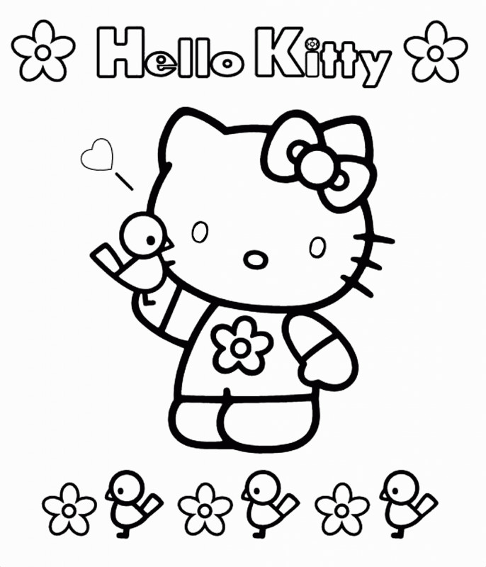 Hello Kitty Birthday Card Template Free New Coloring Book Splendi Colorings to Print Photo Ideas Hello