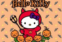 Hello Kitty Birthday Card Template Free New Hello Kitty Halloween Wallpaper 55 Pictures
