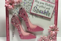High Heel Shoe Template for Card Awesome Shoe Cards