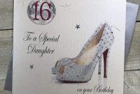 High Heel Shoe Template for Card Awesome White Cotton Cards Code X16d Geburtstagskarte Fa¼r Den 16