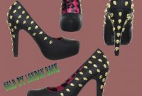 High Heel Shoe Template for Card New New Abbey Dawn Dirty Girl Black Platforms by Iron Fist