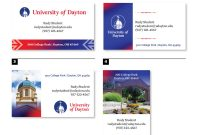 High School Id Card Template Unique Business Cards University Of Dayton Ohio