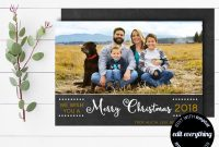 Holiday Card Templates for Photographers New Family Picture Christmas Card Template Merry Christmas
