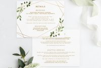 Hotel Key Card Template Awesome Wedding Invitation Template Suite Set 5 X 7 Geometric