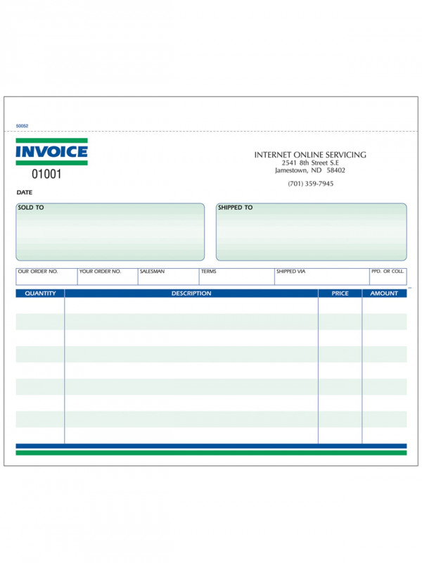 Hvac Business Card Template Awesome Custom Carbonless Business Forms Pre Formatted Invoice Forms Ruled 8 1 2 X 7 2 Part Box Of 250 Item 217601