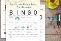 Ice Breaker Bingo Card Template Awesome People Bingo Icebreaker Worksheet Printable Worksheets and