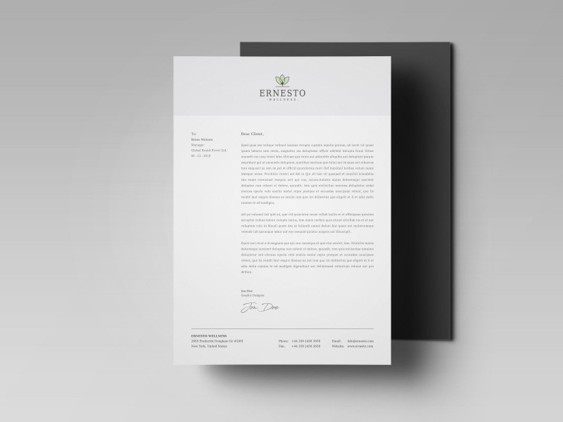 Id Card Template Ai Awesome Ernesto Corporate Identity Corporate Identity Corporate