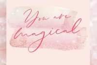 Imprintable Place Cards Template Awesome You are Magical Printable