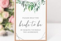 Imprintable Place Cards Template Unique Geometric Silver Greenery Printable Bridal Shower Address An Envelope Sign Instant Download Bridal Shower Decorations and Supplies Gfs100