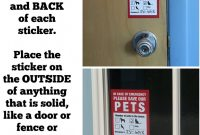 In Case Of Emergency Card Template Awesome Pet Inside Finder Sticker 4 Pack Adhesive On Front and Back In A Fire Emergency Firefighters Will See Alert On the Window Door or House and