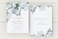 In Memory Cards Templates New Wedding Invitation Template Suite Set Dusty Blue Download