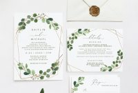Invitation Cards Templates for Marriage New Wedding Invitation Template Suite Set 5 X 7 Geometric