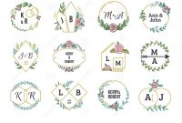 Invitation Cards Templates for Marriage New Wedding Logos Floral Boho Monograms and Frames for Wedding