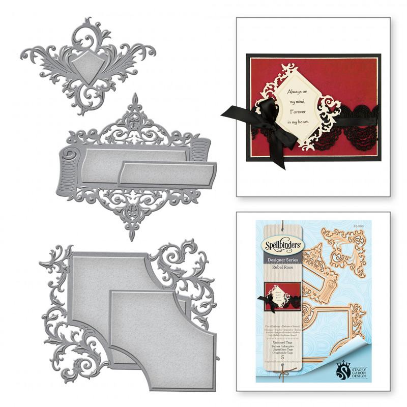 Iris Folding Christmas Cards Templates Unique Spellbinders Designer Series Die Rebel Rose Lock Key